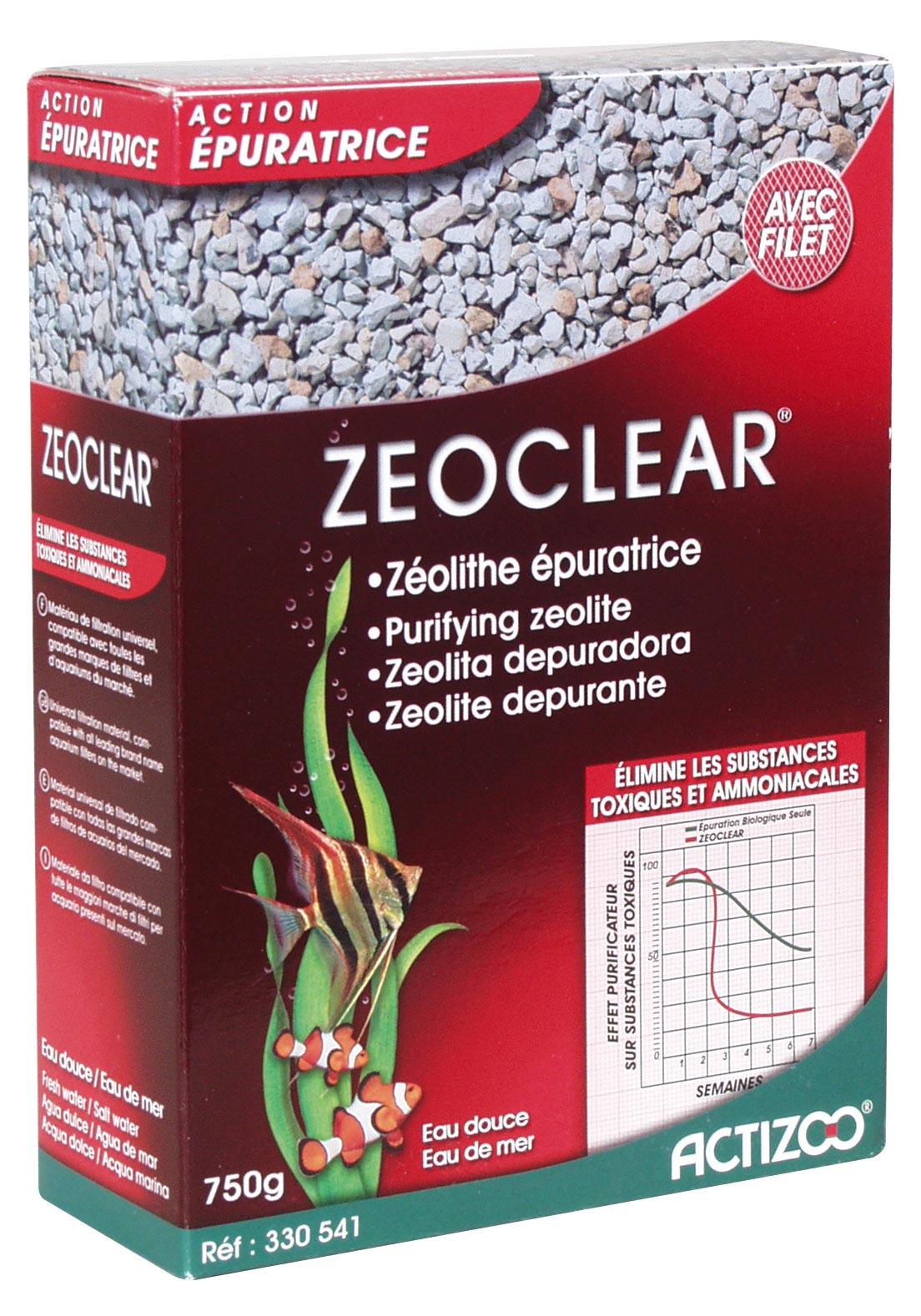 Zeolite ACTIZOO ZeoClear 1L substrat de filtration minéral dépolluant pour eau douce et eau de mer