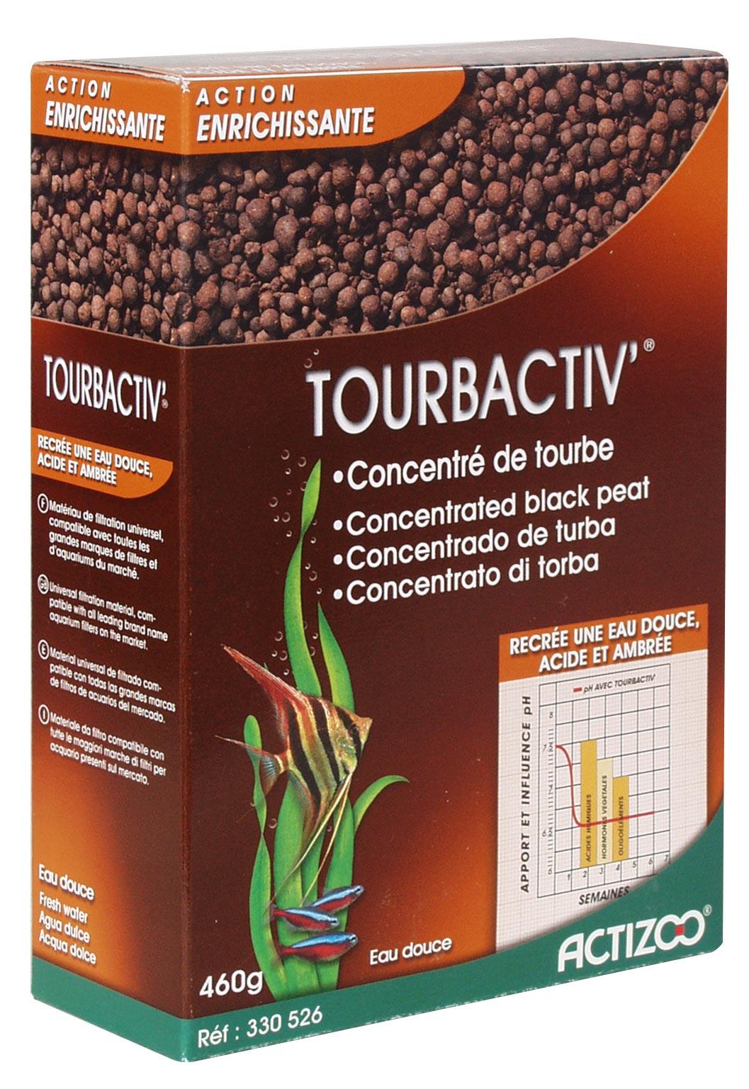 Tourbe de filtration ACTIZOO TourbActiv 1L crée une eau ambrée et acide en aquarium d\'eau douce