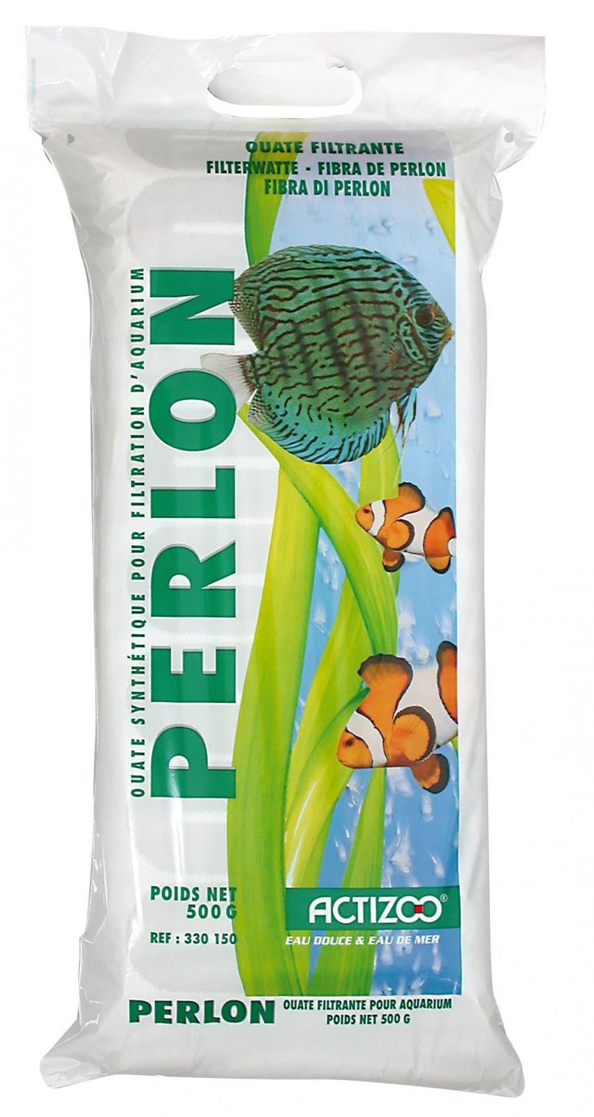 Ouate de filtration ACTIZOO Perlon 500 gr. pour aquarium d\'eau douce et d\'eau de mer