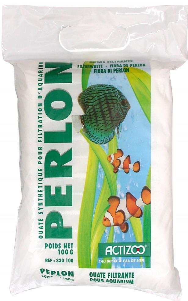 Ouate de filtration ACTIZOO Perlon 250 gr. pour aquarium d\'eau douce et d\'eau de mer