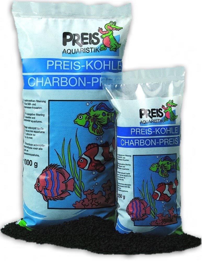 PREIS Charbon actif en sachet de  250 gr. pour eau douce et eau de mer