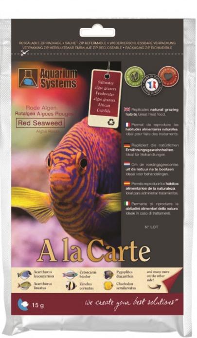 AQUARIUM SYSTEMS A la carte Red Seaweed 15 gr. algues rouges pour le nourrissage des poissons marins et Cichlidés Africains