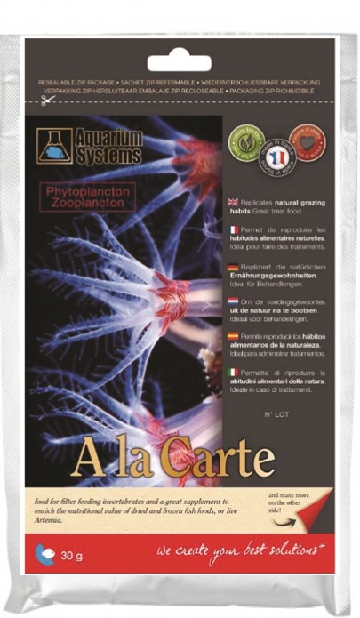AQUARIUM SYSTEMS A la carte Phytoplancton / Zooplancton 30 gr. nourriture riche pour coraux et autres animaux de la faune marine
