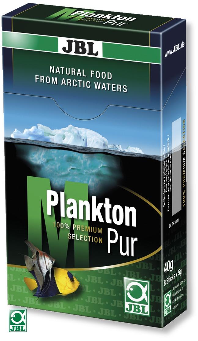 JBL Plankton Pur M 8 x 5g plancton frais et pur pour poissons d\'eau douce et d\'eau de mer de 4 à 14 cm. Portions pour aquarium de plus de 200L