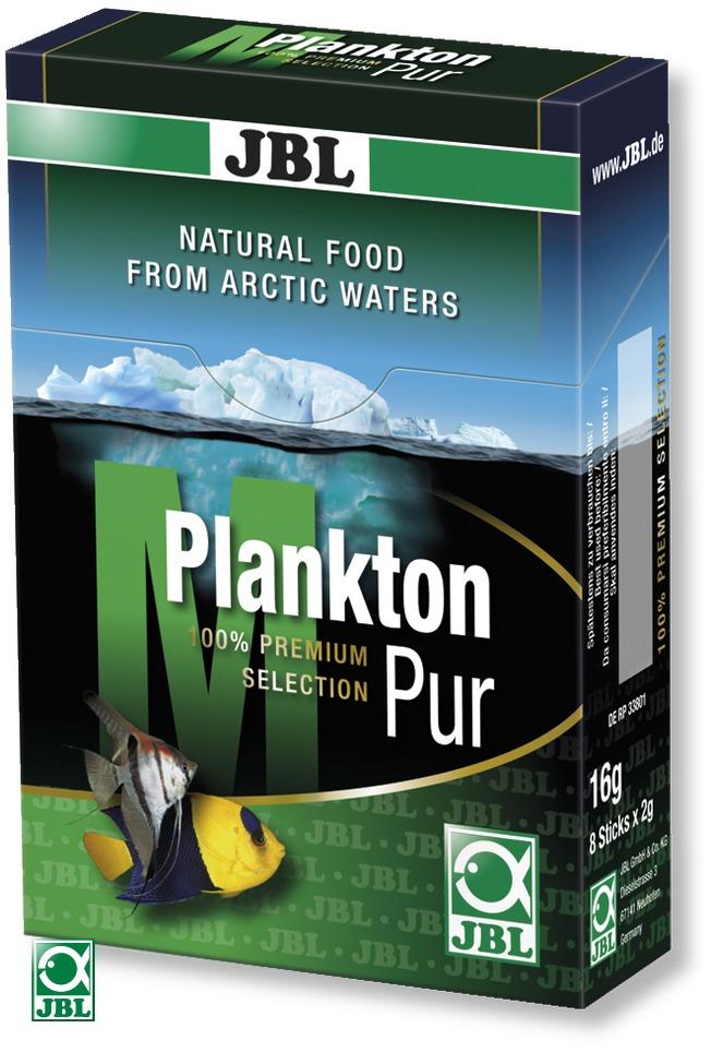JBL Plankton Pur M 8 x 2g plancton frais et pur pour poissons d\'eau douce et d\'eau de mer de 4 à 14 cm. Portions pour aquarium jusqu\'à 200L