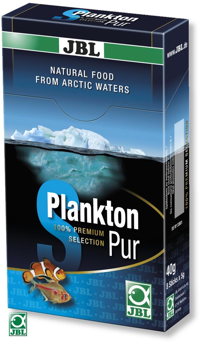 JBL Plankton Pur S 8 x 5g plancton frais et pur pour poissons d\'eau douce et d\'eau de mer de 2 à 6 cm. Portions pour aquarium de plus de 200L