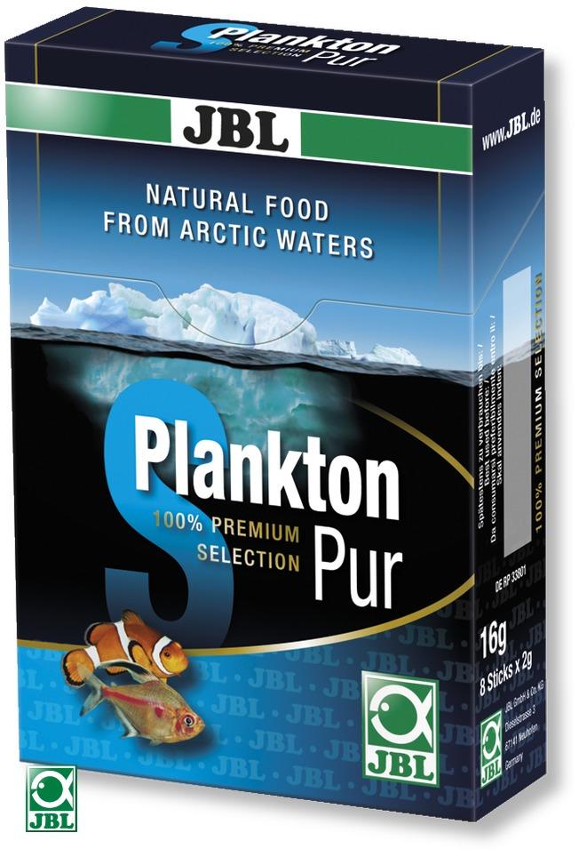 JBL Plankton Pur S 8 x 2g plancton frais et pur pour poissons d\'eau douce et d\'eau de mer de 2 à 6 cm. Portions pour aquarium jusqu\'à 200L