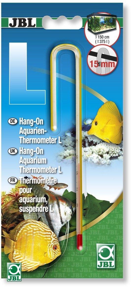 JBL Thermomètre d´aquarium à suspendre taille L pour rebord jusqu\'à 15 mm d\'épaisseur