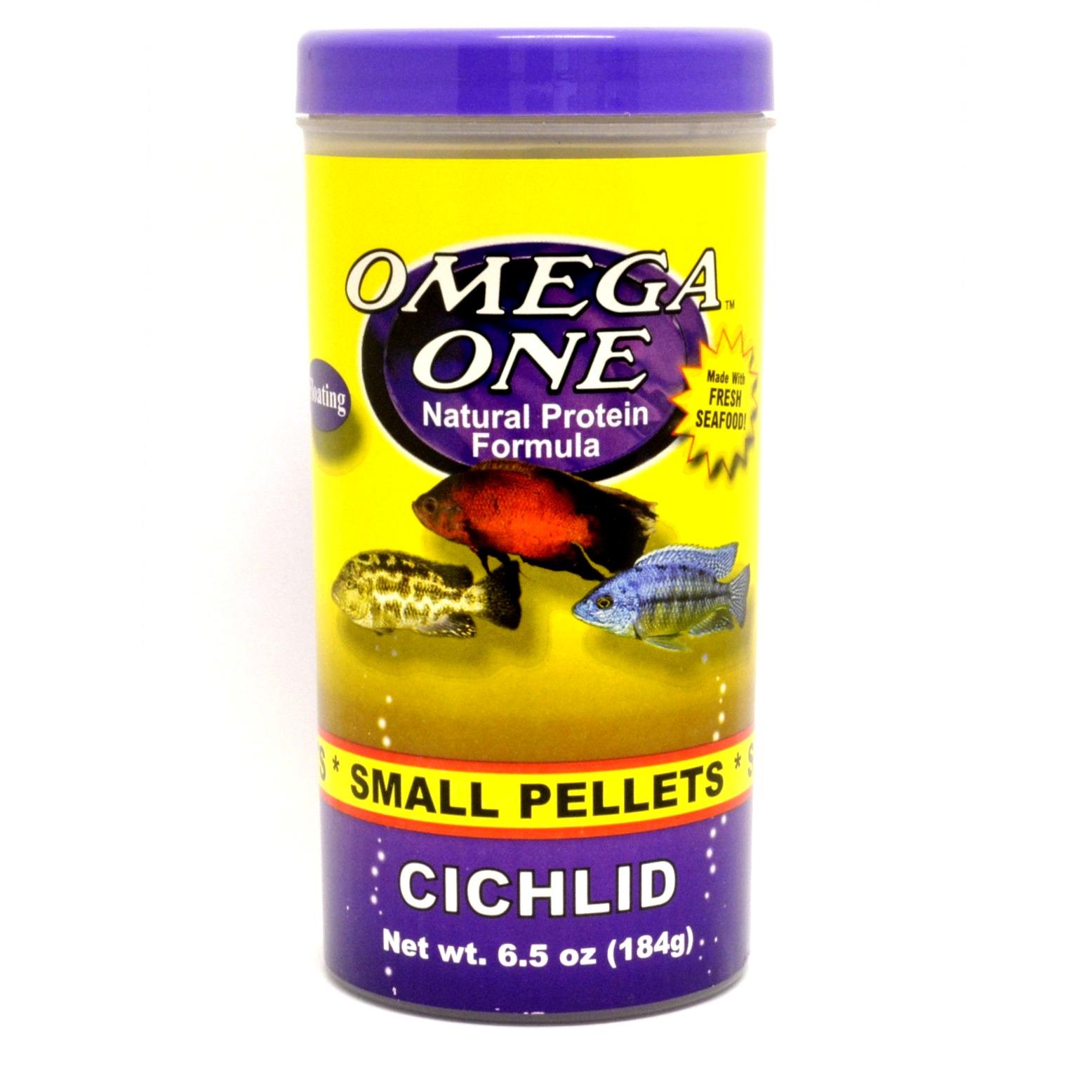 Nourriture en granulés pour petits Cichlidés OMEGA ONE Cichlid Small Pellets 184 gr. riche en omega 3 et 6