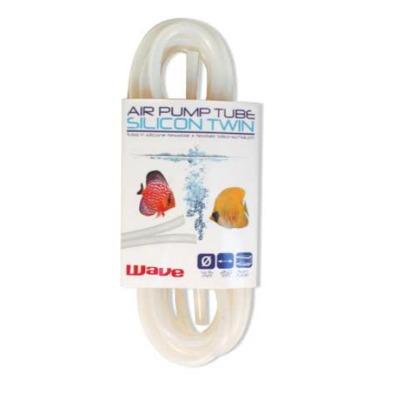 Tuyau silicone double 4/6 mm WAVE 250 cm pour l\'instalation d\'un système d\'aération dans l\'aquarium