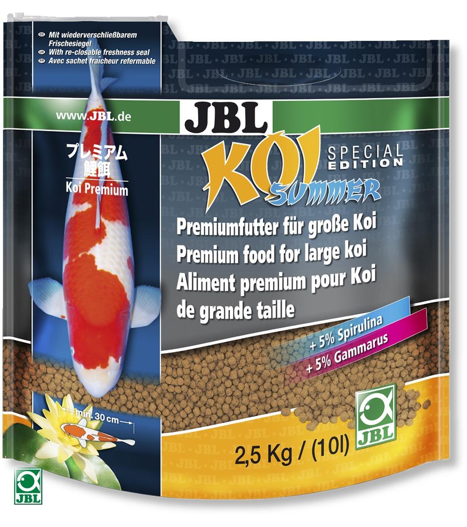 Jbl koi summer 10 l nourriture sp ciale t pour carpe ko for Nourriture pour carpe koi