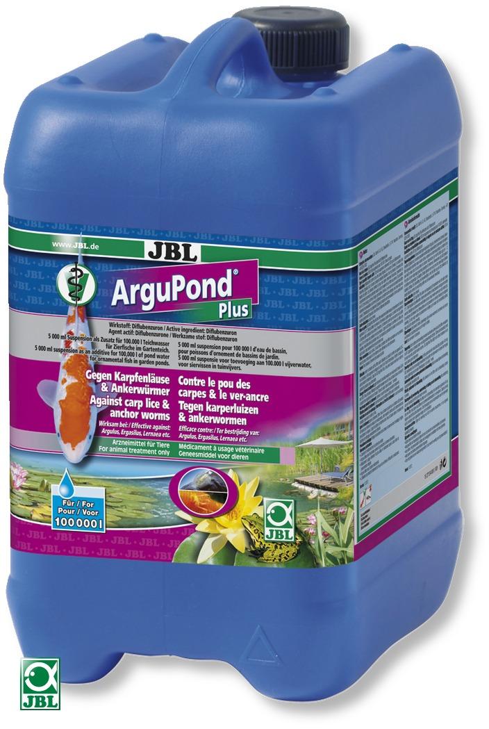 JBL ArguPond Plus 5 L traitement contre le poux de la carpe et autre parasites pour 100000L