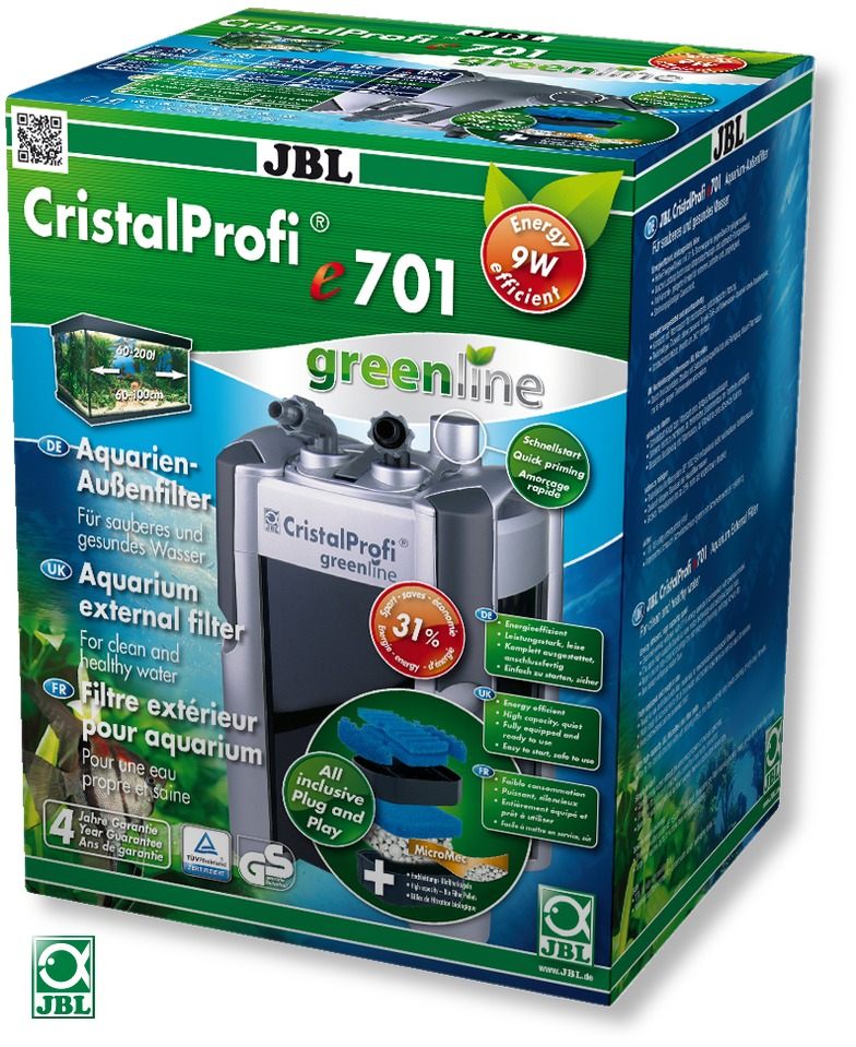 jbl cristalprofi e701 greenline filtre externe pour aquarium en vente sur. Black Bedroom Furniture Sets. Home Design Ideas