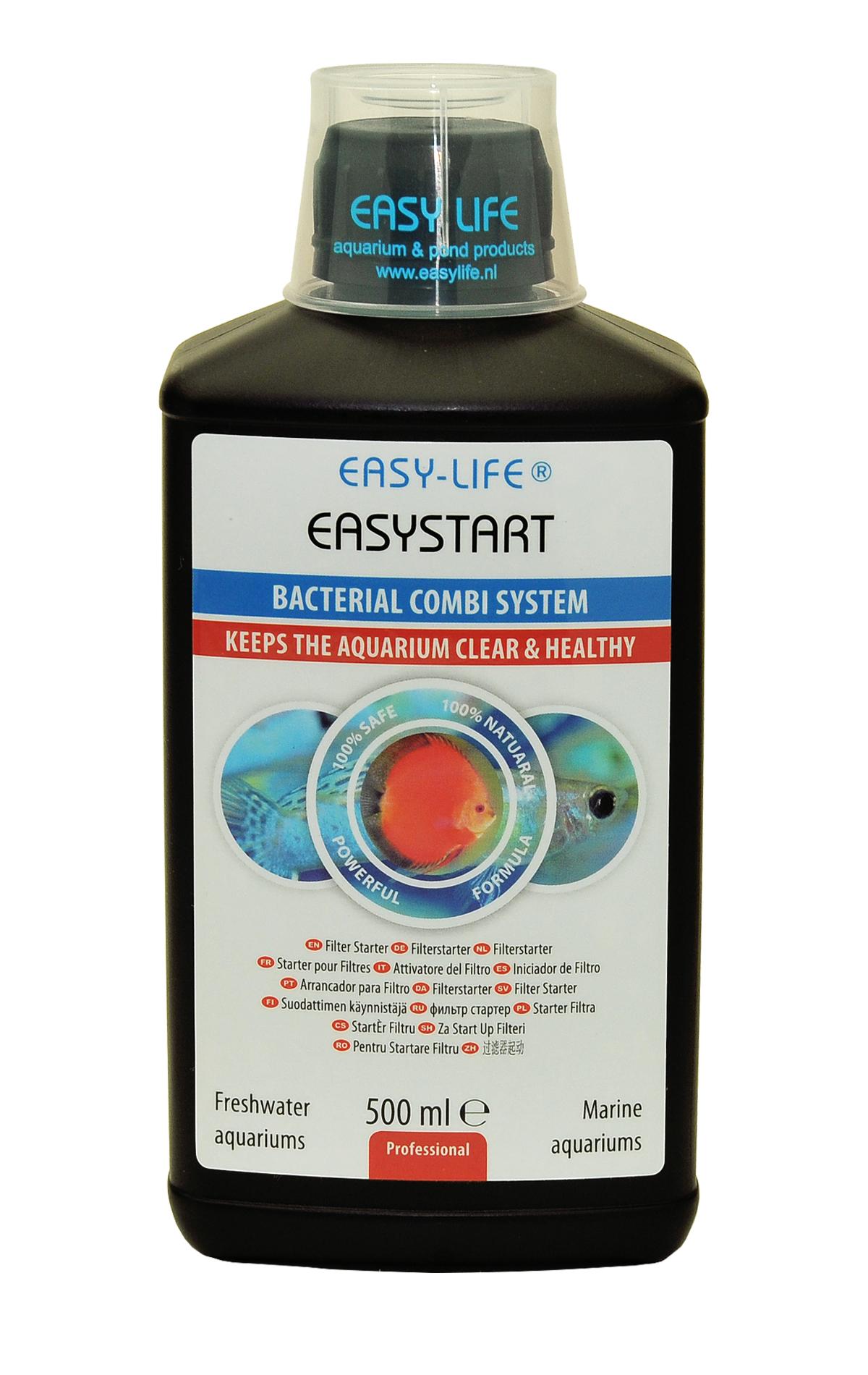 EASY-LIFE EasyStart 500ml conditionneur naturel pour le démarrage des aquariums jusqu\'à 2500 litres