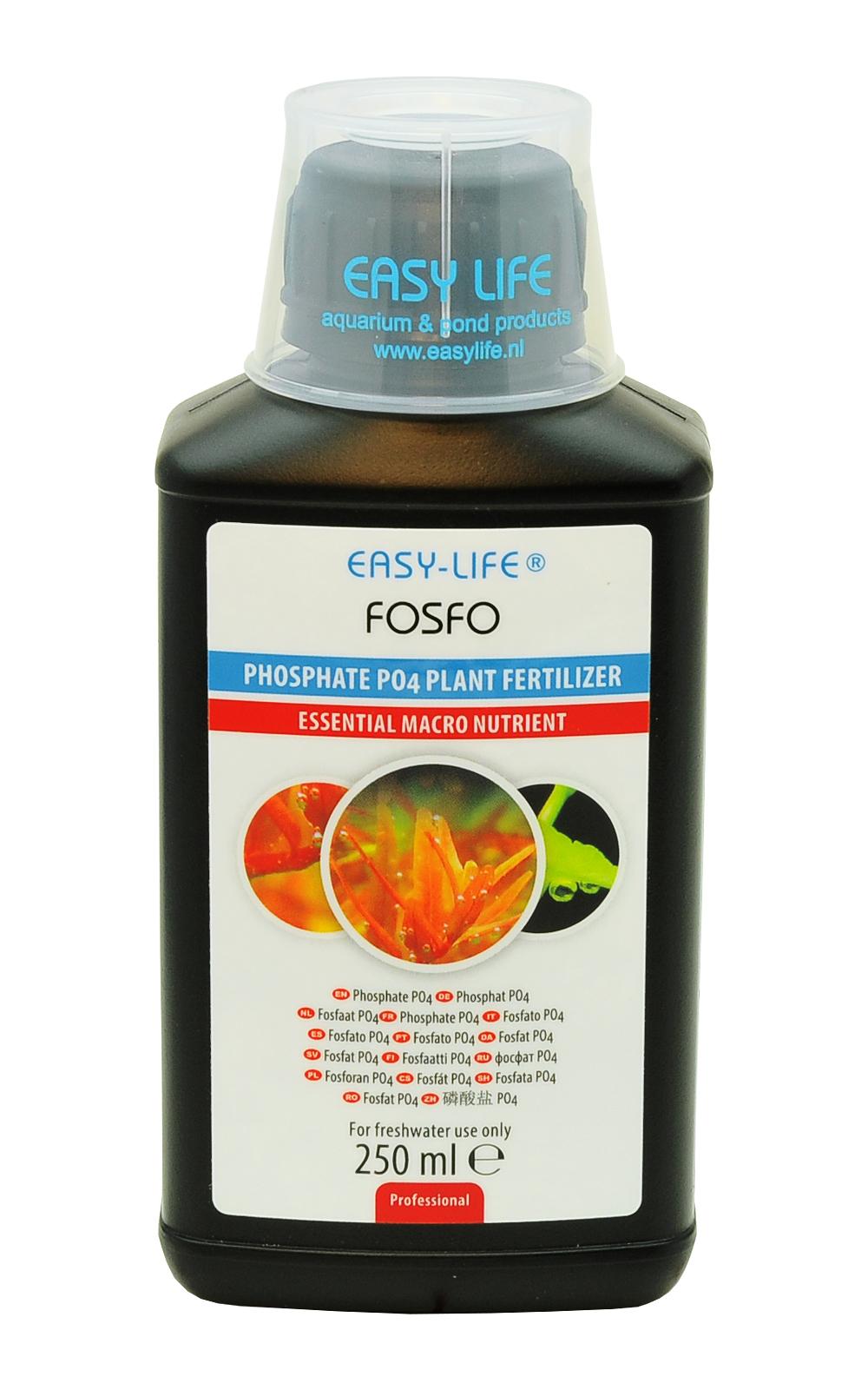 EASY-LIFE Fosfo 250ml pour le contrôle de la teneur en PO4 dans les aquariums plantés