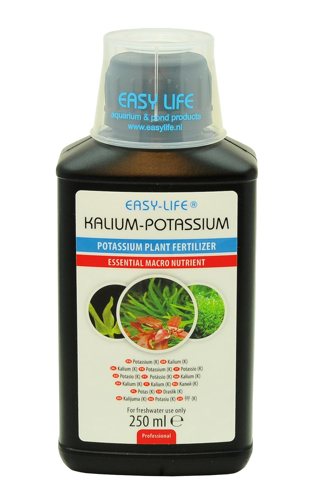 EASY-LIFE Kalium 250ml apports en potassium pour les plantes d\'aquariums. Traite 2500 litres d\'eau douce.