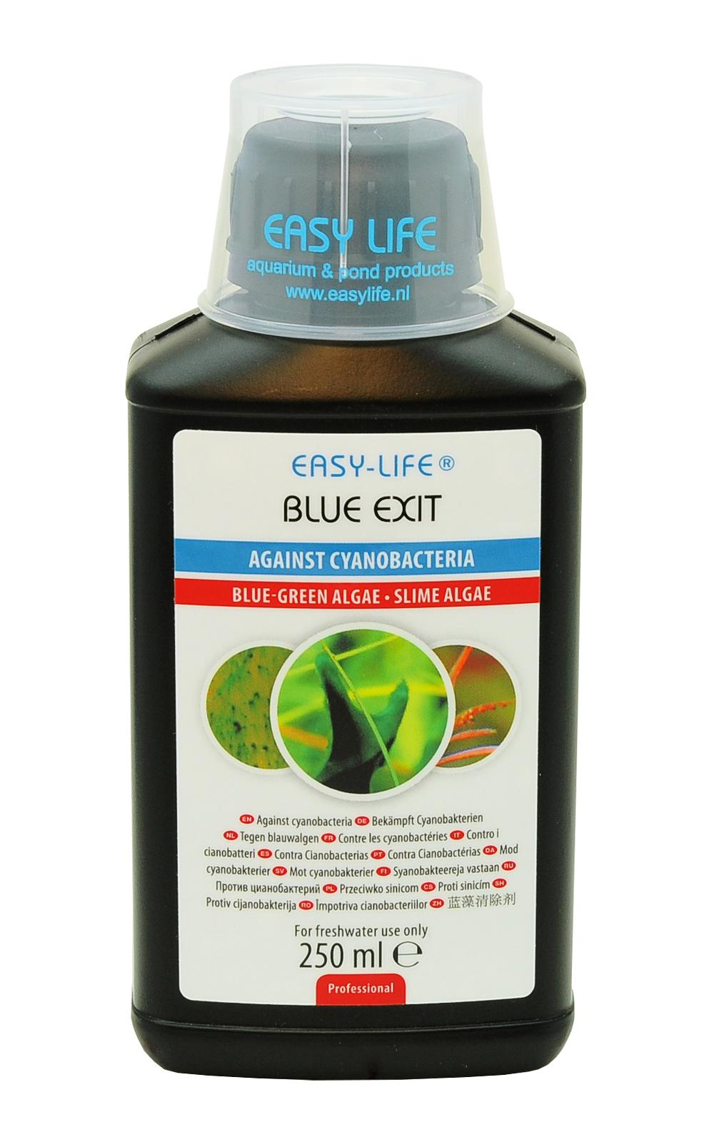 EASY-LIFE Blue Exit 250ml élimine les algues bleues ou Cyanobactéries en aquariums d\'eau douce jusqu\'à 400 L