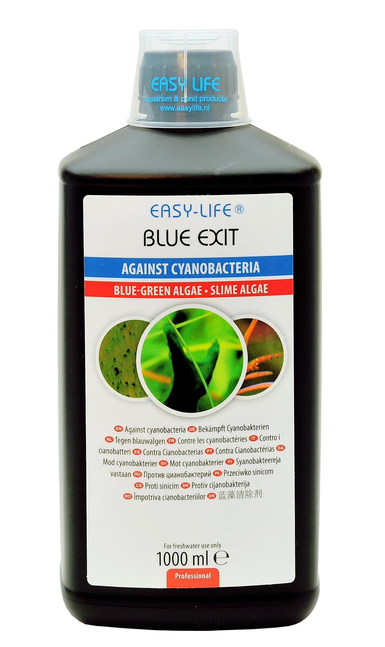 EASY-LIFE Blue Exit 1 L élimine les algues bleues ou Cyanobactéries en aquariums d\'eau douce jusqu\'à 1600 L