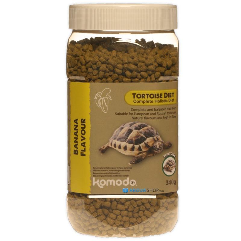 KOMODO Tortoise Diet Banana 340 gr. nourriture saveur Banane pour tortues de terre