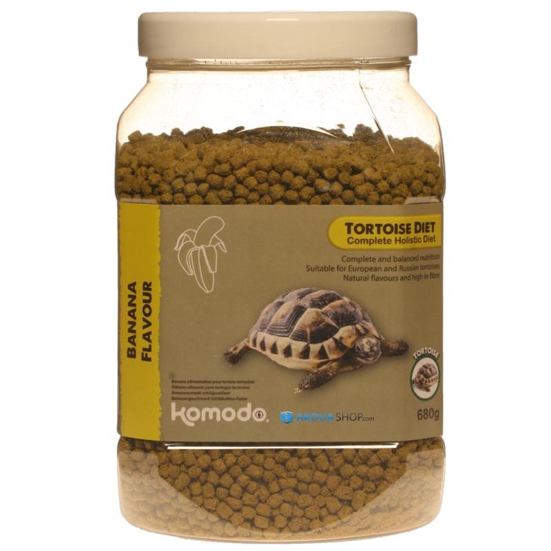 KOMODO Tortoise Diet Banana 680 gr. nourriture saveur Banane pour tortues de terre