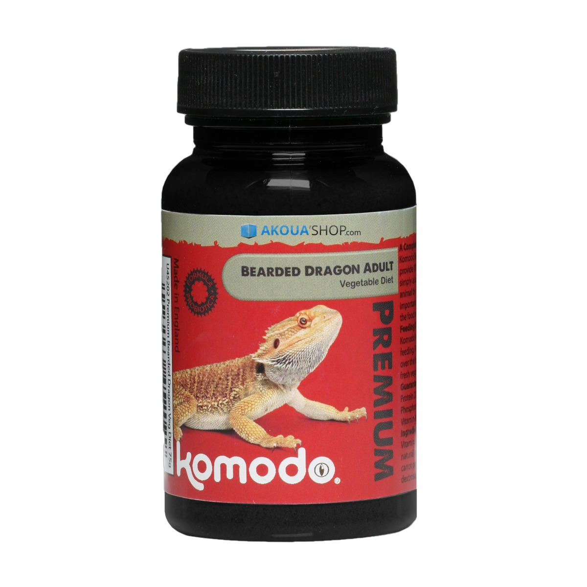 komodo Premium Bearded Dragon Vegi Adult Diet 75g