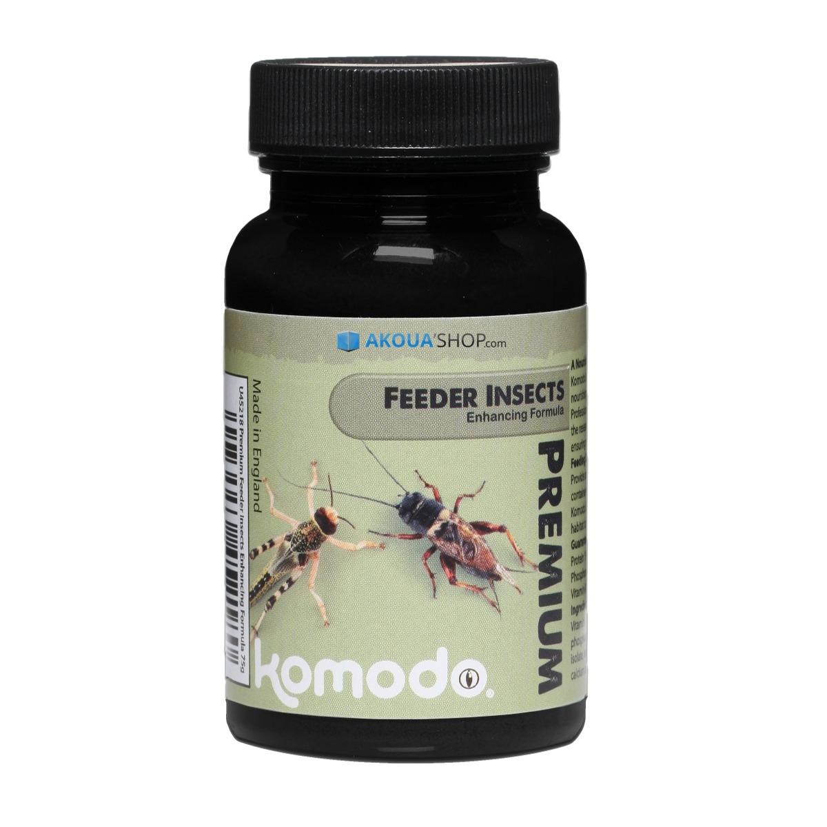 KOMODO Premium Insect Enhancing Form. 75 gr. complément alimentaire en poudre pour insectes destinés à l\'alimentation des reptiles
