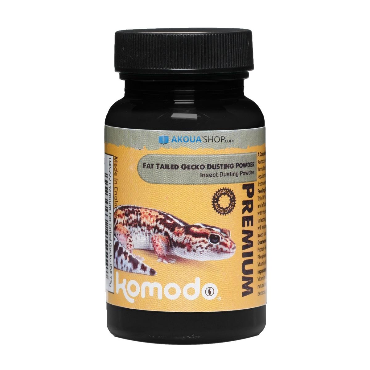 KOMODO Premium Fat Tail Gecko IDP 75 gr. complément alimentaire pour Gecko à queue grasse à saupoudrer sur la nourriture vivantes