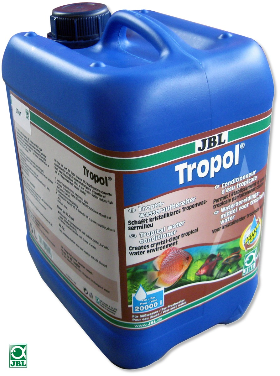 JBL Tropol 5 L conditionneur à base de tourbe, transforme l\'eau de l\'aquarium en eau noire tropicale