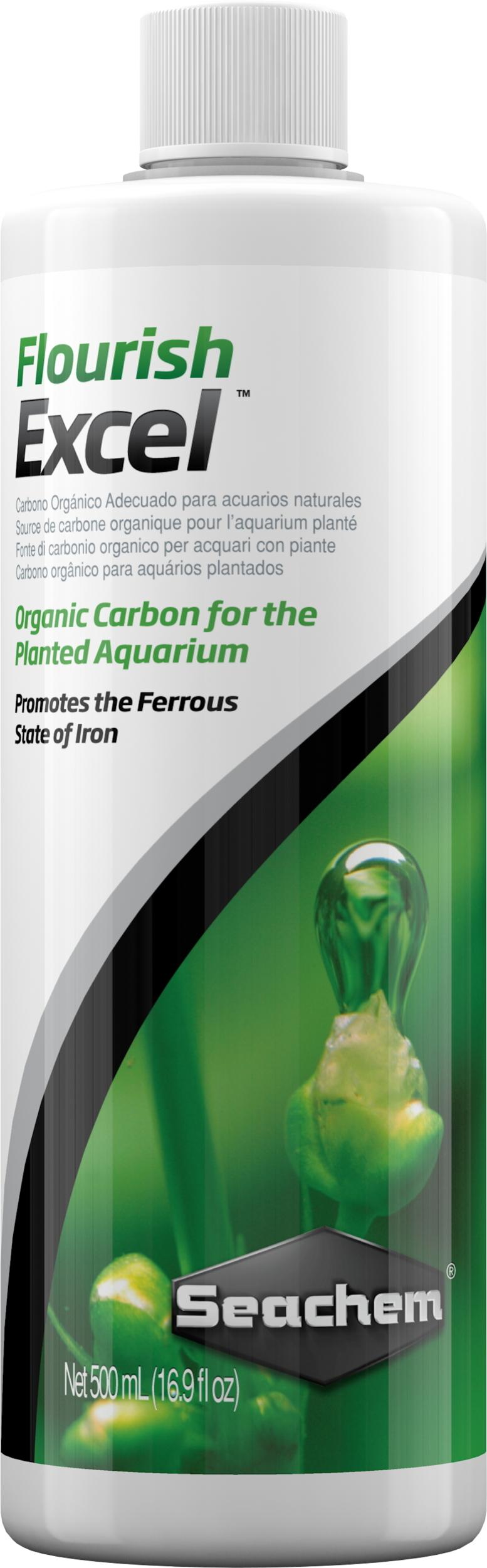 SEACHEM Flourish Excel 500ml source de carbone organique biodisponible pour plantes d\'aquarium