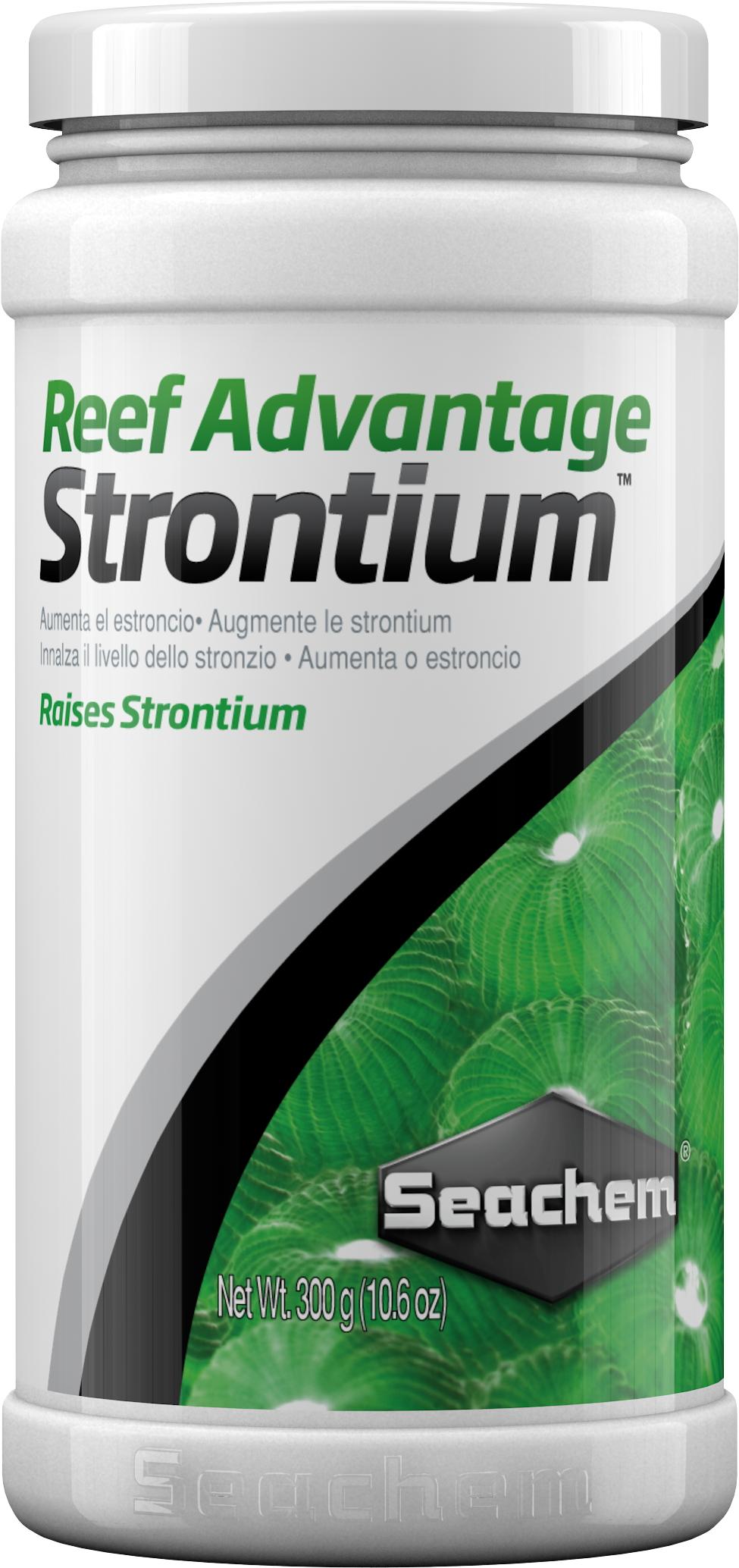 SEACHEM Reef Advantage Strontium 300 gr. restaure / maintien le Strontium à un niveau proche de l\'eau de mer naturelle