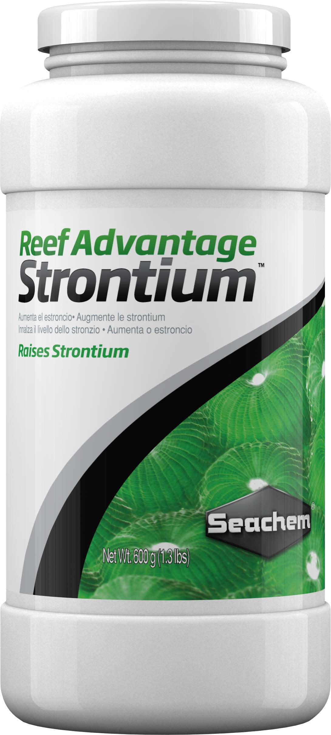 SEACHEM Reef Advantage Strontium 1,2 kg restaure / maintien le Strontium à un niveau proche de l\'eau de mer naturelle