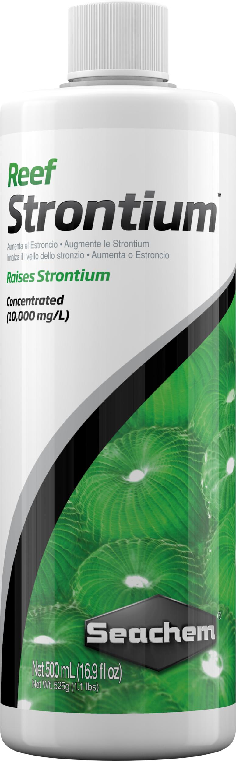 SEACHEM Reef Strontium 500 ml complément concentré qui maintient et restaure le niveau de Strontium