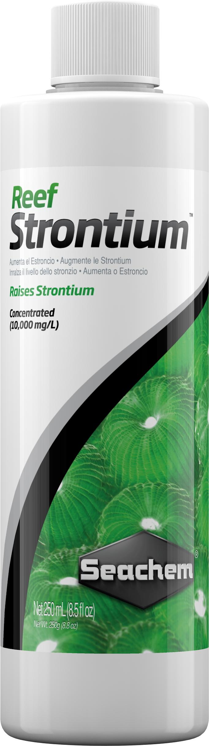 SEACHEM Reef Strontium 250 ml complément concentré qui maintient et restaure le niveau de Strontium