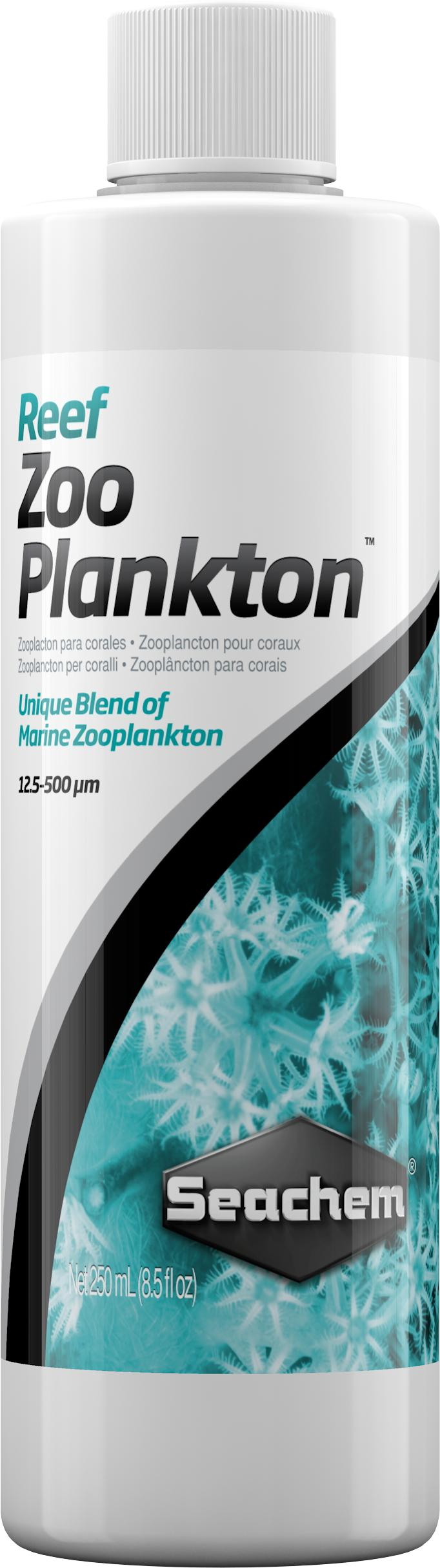 SEACHEM Reef Zooplankton 250 ml nourriture pour coraux et invertébrés à base zooplancton naturels