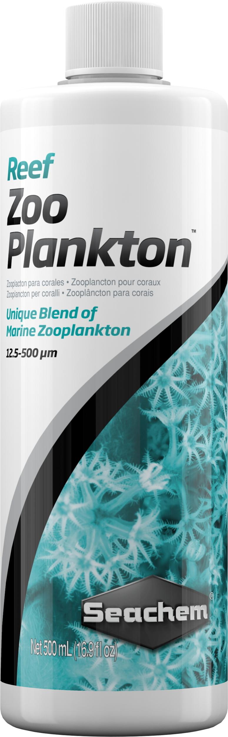 SEACHEM Reef Zooplankton 500 ml nourriture pour coraux et invertébrés à base zooplancton naturels