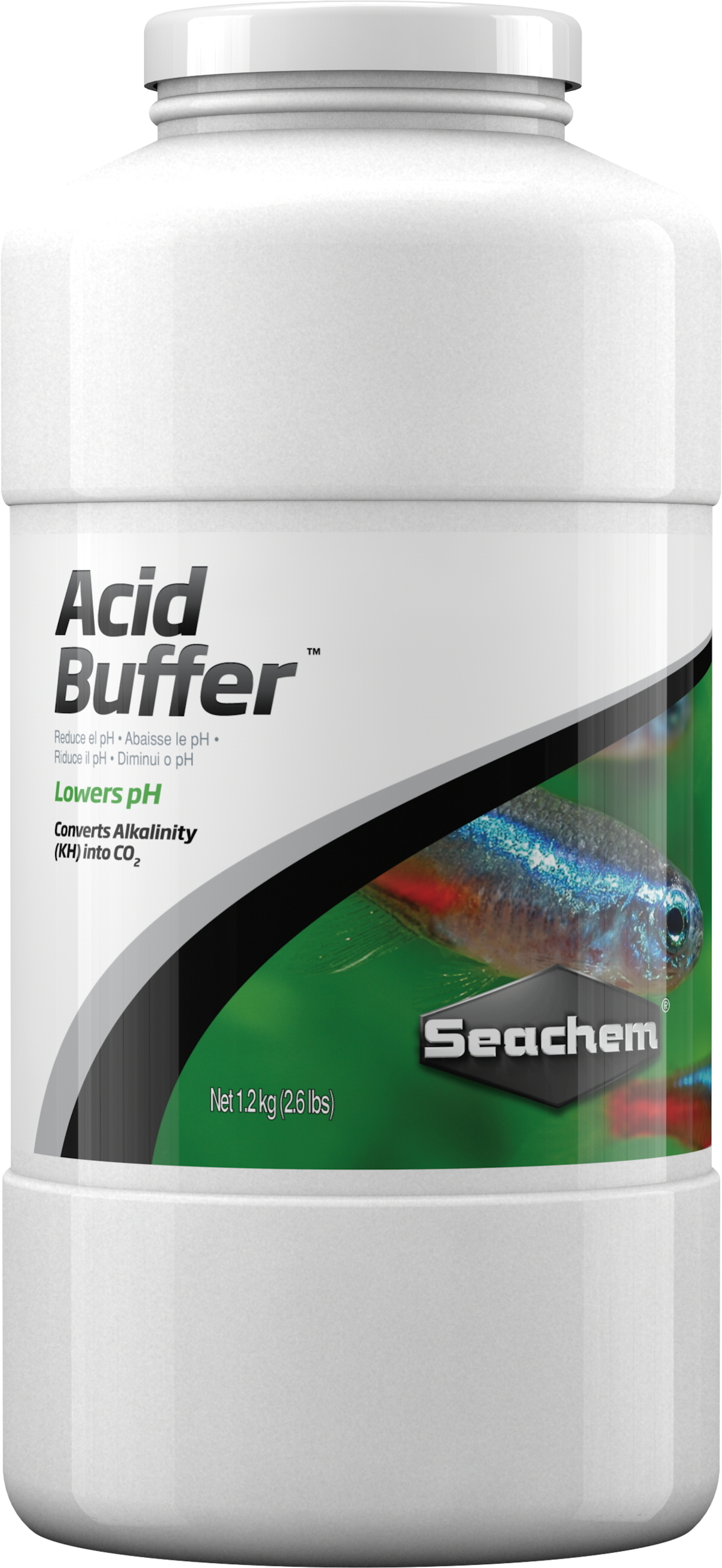 SEACHEM Acid Buffer 1,2 Kg solution tampon pour abaisser ou stabiliser le pH entre 4.0 et 6.8