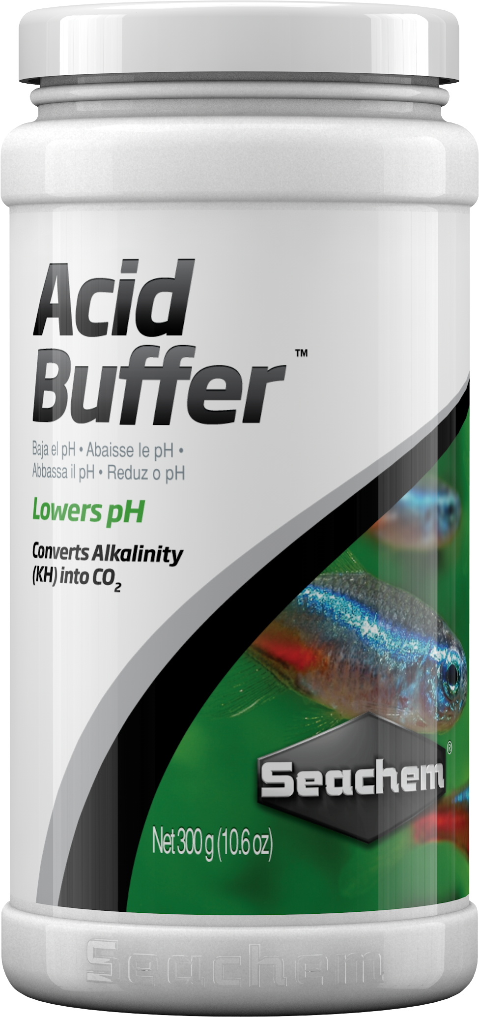 SEACHEM Acid Buffer 300 gr. solution tampon pour abaisser ou stabiliser le pH entre 4.0 et 6.8