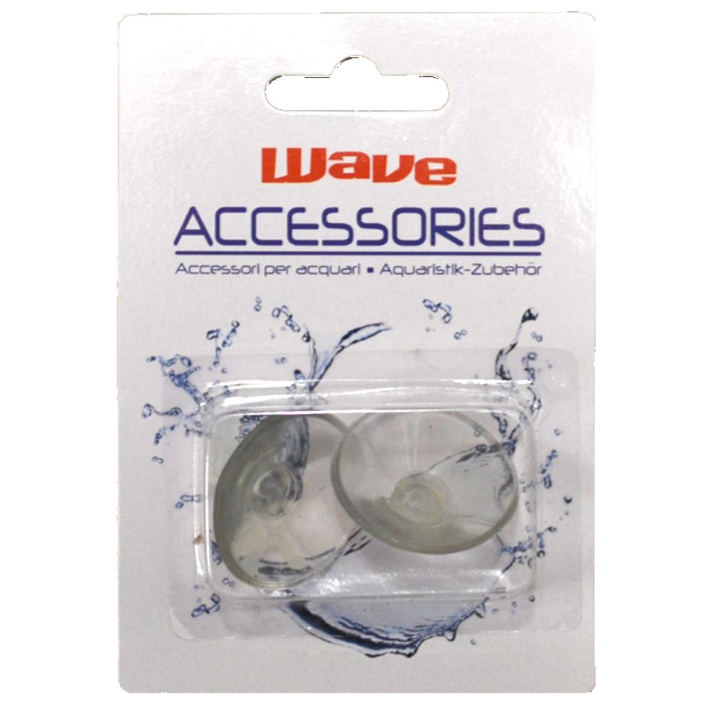 Lot de 2 ventouses WAVE avec crochets pour tuyau d\'air 4/6 mm