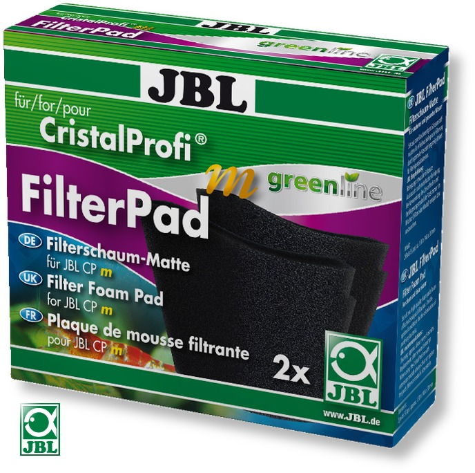 JBL CristalProfi m Greenline FilterPad lot de 2 mousses de rechange pour filtre CristalProfi m GreenLine