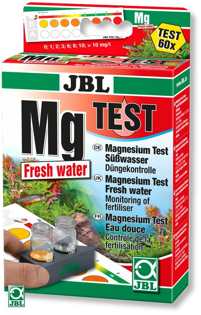 JBL Mg Magnesium Fresh Water Test-Set sert à la mesure et au contrôle de la teneur en magnésium dans les aquariums d'eau douce