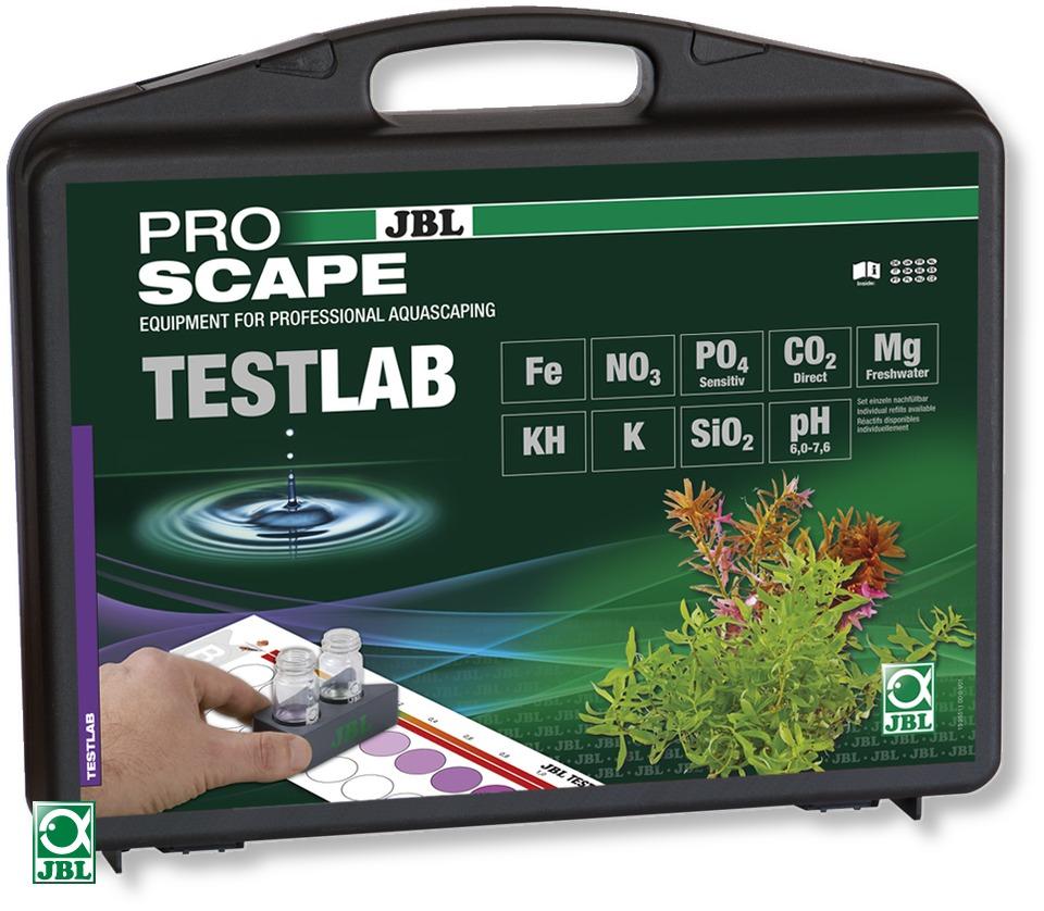 JBL Testlab ProScape mallette de tests spécialement adapté à l\'Aquascaping. Analyse de 9 paramètres importants pour les aquariums plantés