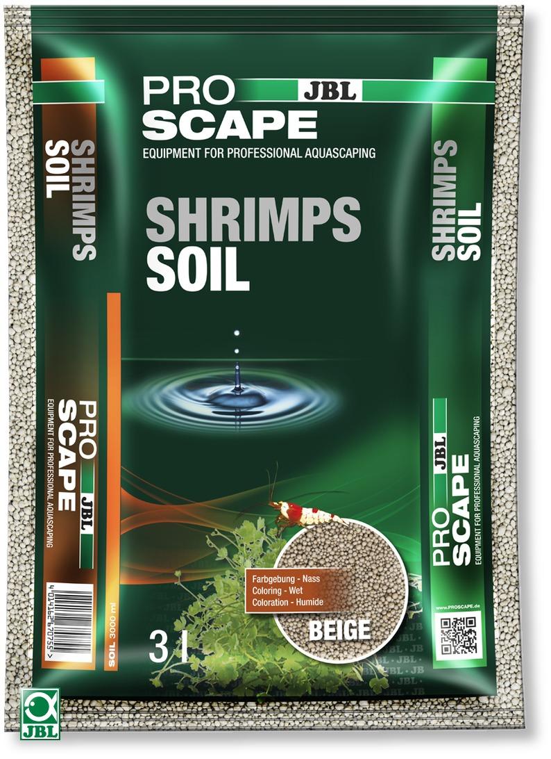 JBL ProScape Shrimps Soil Beige 3 L substrat d\'aquarium beige spécialement conçu pour les crevettes et plantes d\'aquarium