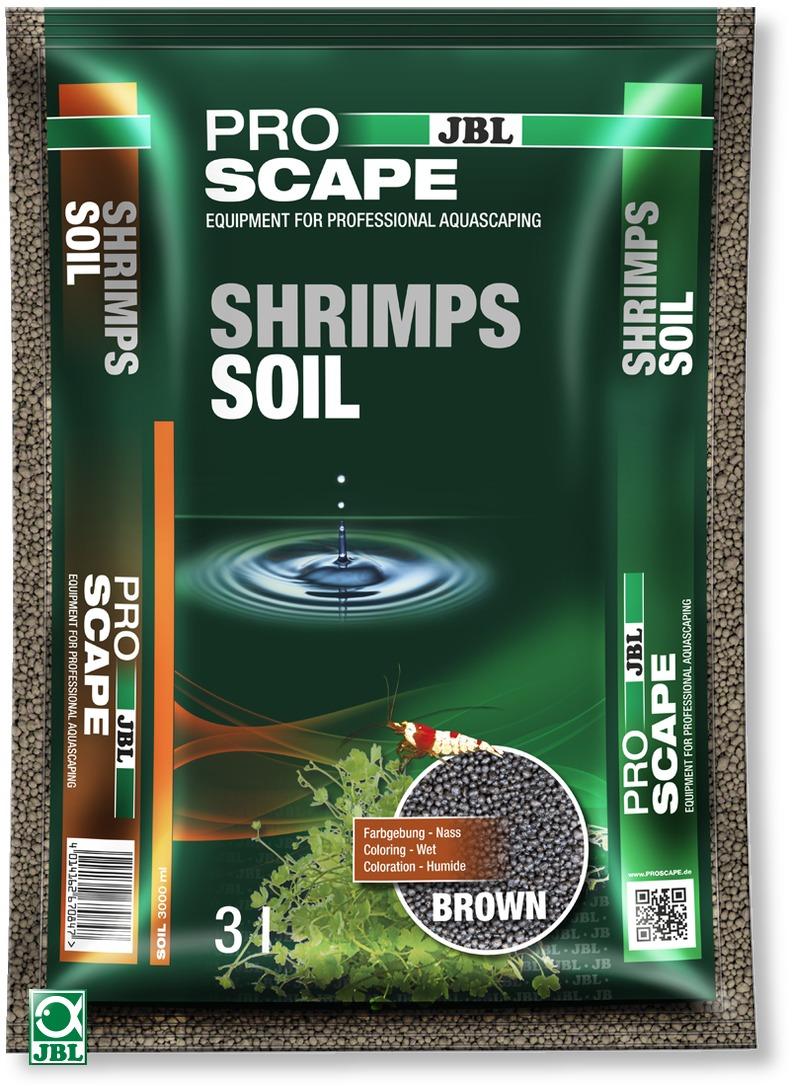 JBL ProScape Shrimps Soil Brown 3 L substrat d\'aquarium brun spécialement conçu pour les crevettes et plantes d\'aquarium