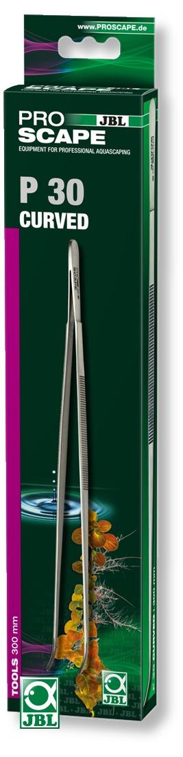 JBL ProScape Tool P 30 pince courbée 30 cm en acier Nippon Steel pour l\'entretien des plantes d\'aquarium
