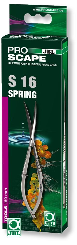 JBL ProScape Tool S 16 ciseaux à ressort courbés 16 cm en acier Nippon Steel pour l\'entretien des mousses et plantes gazonnantes d\'aquarium