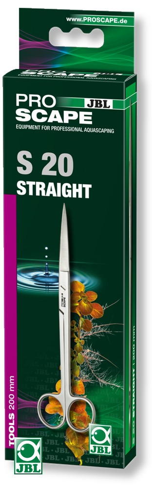 JBL ProScape Tool S 20 ciseaux droits 20 cm en acier Nippon Steel pour l\'entretien des plantes d\'aquarium