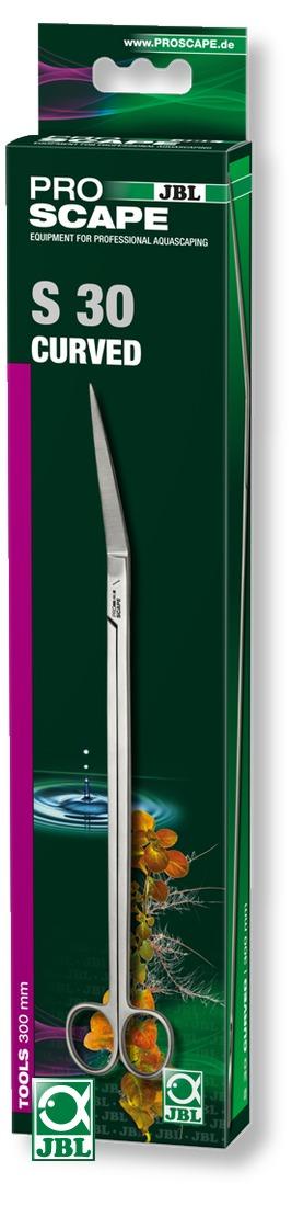 JBL ProScape Tool S 30 ciseaux courbés 30 cm en acier Nippon Steel pour l\'entretien des plantes d\'aquarium