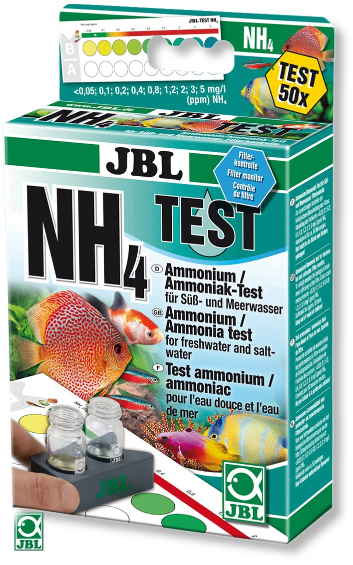JBL Test NH4 mesure de la teneur d\'ammonium/ammoniaque, en eau douce et eau de mer
