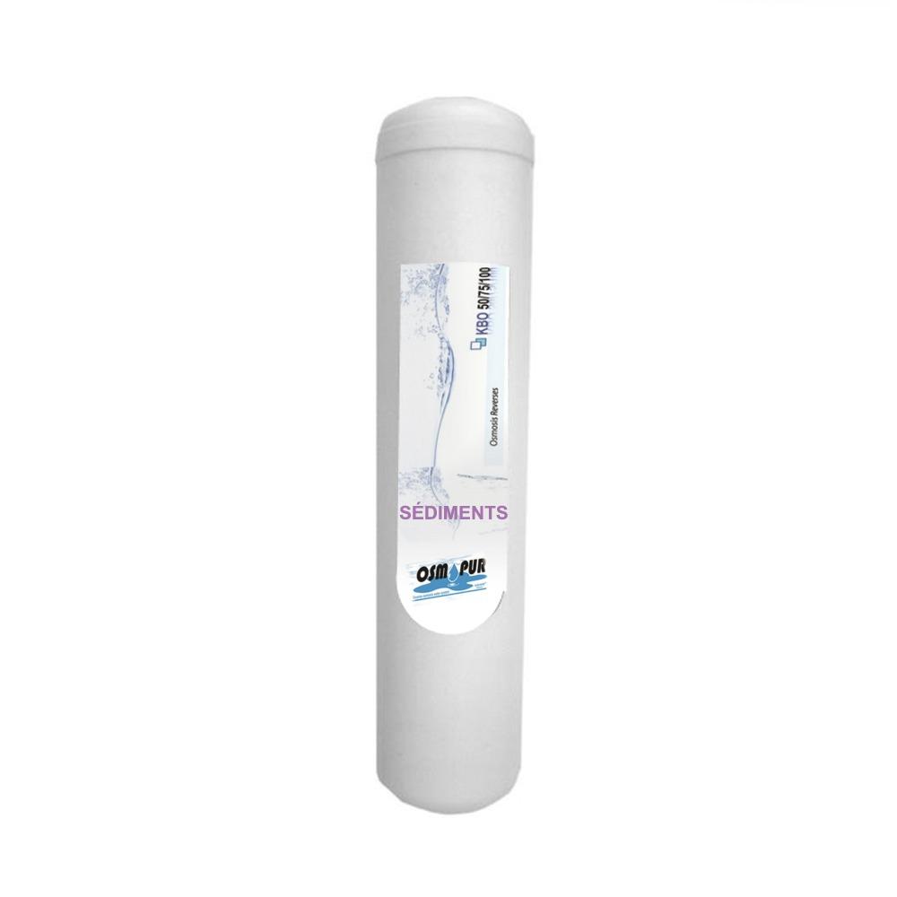 Cartouche à sédiment 5 microns pour osmoseur AQUAVIE KBO 50, 75 et 100