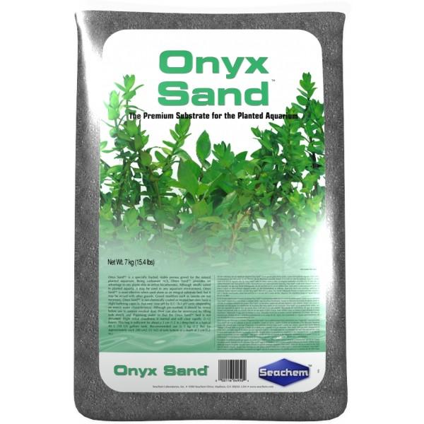 SEACHEM Onyx Sand 7 kg substrat nutritif et décoratif de couleur gris riche en carbonates pour aquarium d\'eau douce